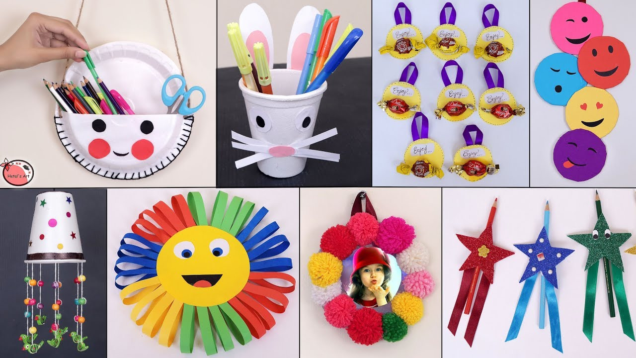 DIY Craft For Toddlers  11 Easy Usefull DIY Craft Ideas for kids Best Out