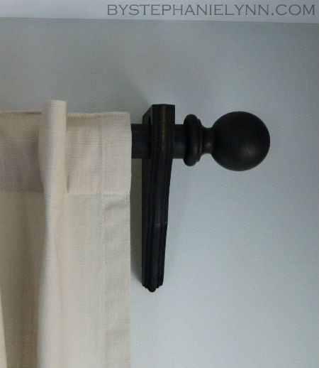DIY Curtain Rod Brackets  Make Your Own Wooden Ball Curtain Rod Set with Brackets