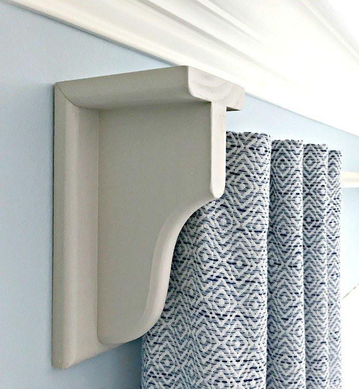 DIY Curtain Rod Brackets  Quick & Easy DIY Wooden Curtain Rod and Brackets Abbotts