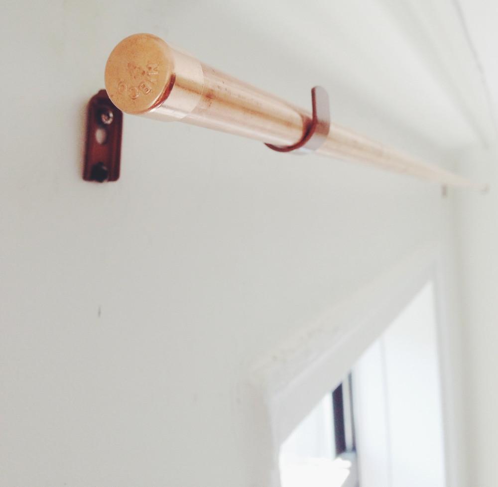 DIY Curtain Rod Brackets  DIY Copper Pipe Curtain Rod and Bracket — Anne Zeygerman