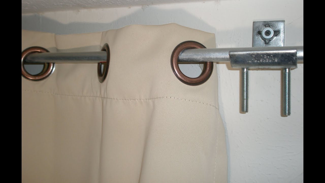 DIY Curtain Rod Brackets  DIY Curtain rod & brackets holders hack from electrical