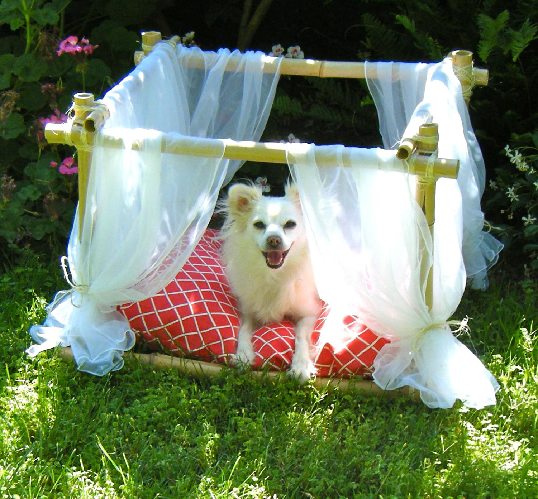 DIY Dog Bed Frame  Sew DoggyStyle DIY Dog Bed Bamboo Frame