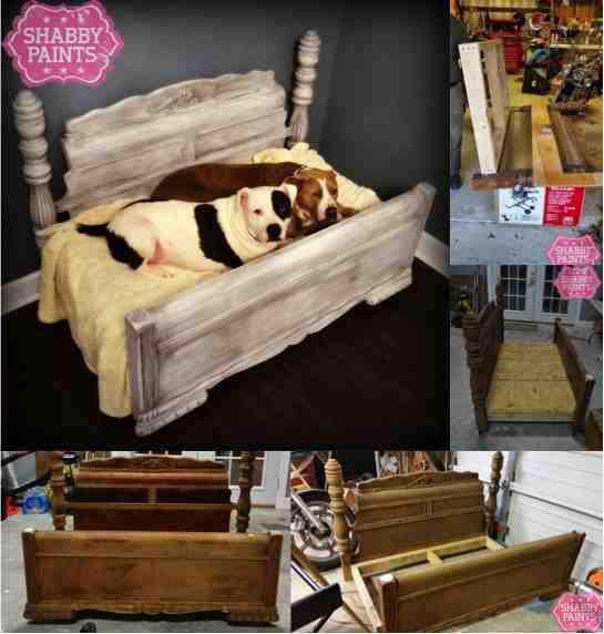 DIY Dog Bed Frame  DIY Bed Frame Upcycled to Gorgeous Pet Bed Do It