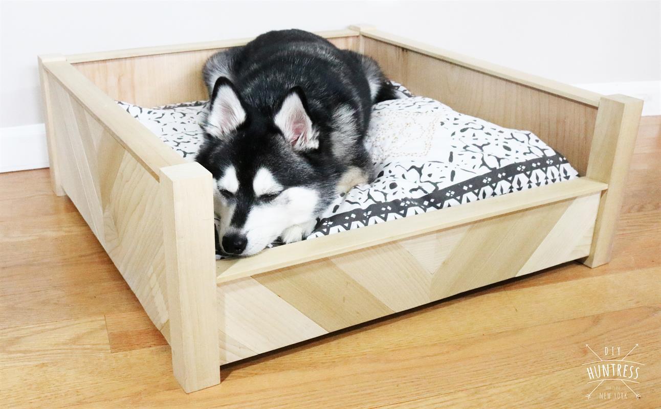 DIY Dog Bed Frame  DIY Chevron Wooden Dog Bed buildsomething