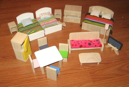DIY Dollhouse Furniture Plans  Patterns Dollhouse Furniture WoodWorking Projects & Plans