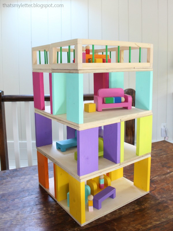 DIY Dollhouse Furniture Plans  That s My Letter DIY Modular Dollhouse & Furniture