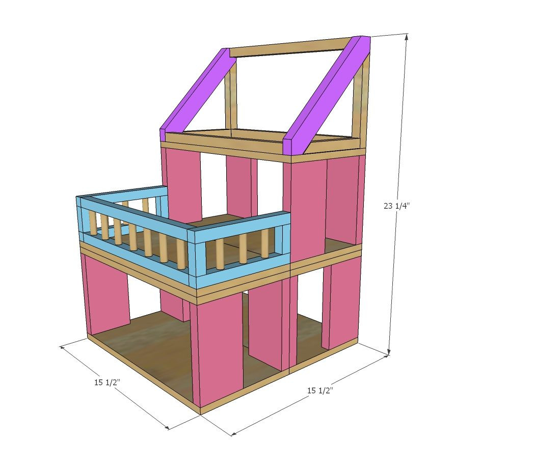 DIY Dollhouse Furniture Plans  HOW TO Modular Stackable Dollhouse