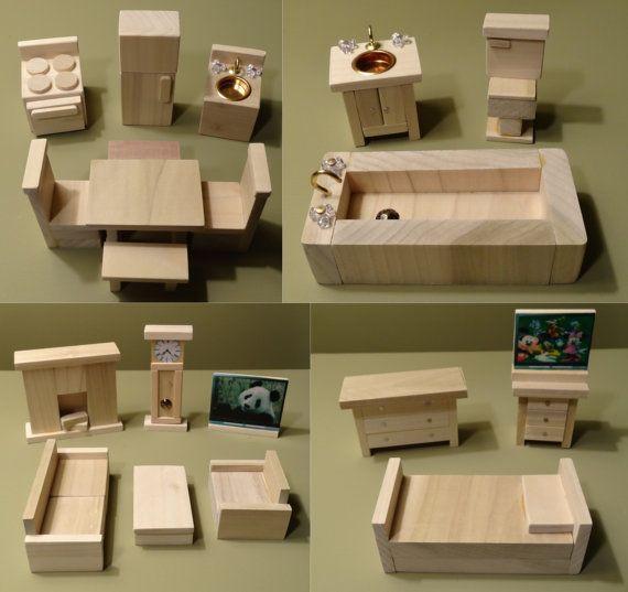 DIY Dollhouse Furniture Plans  Wooden Barbie Dollhouse Furniture WoodWorking Projects