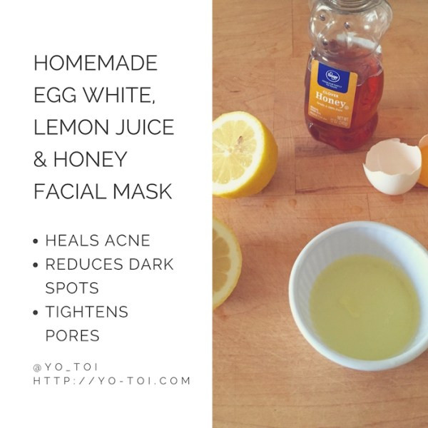 DIY Face Mask For Acne Scars  Egg White Lemon Juice & Honey Facial Mask for Acne Scars