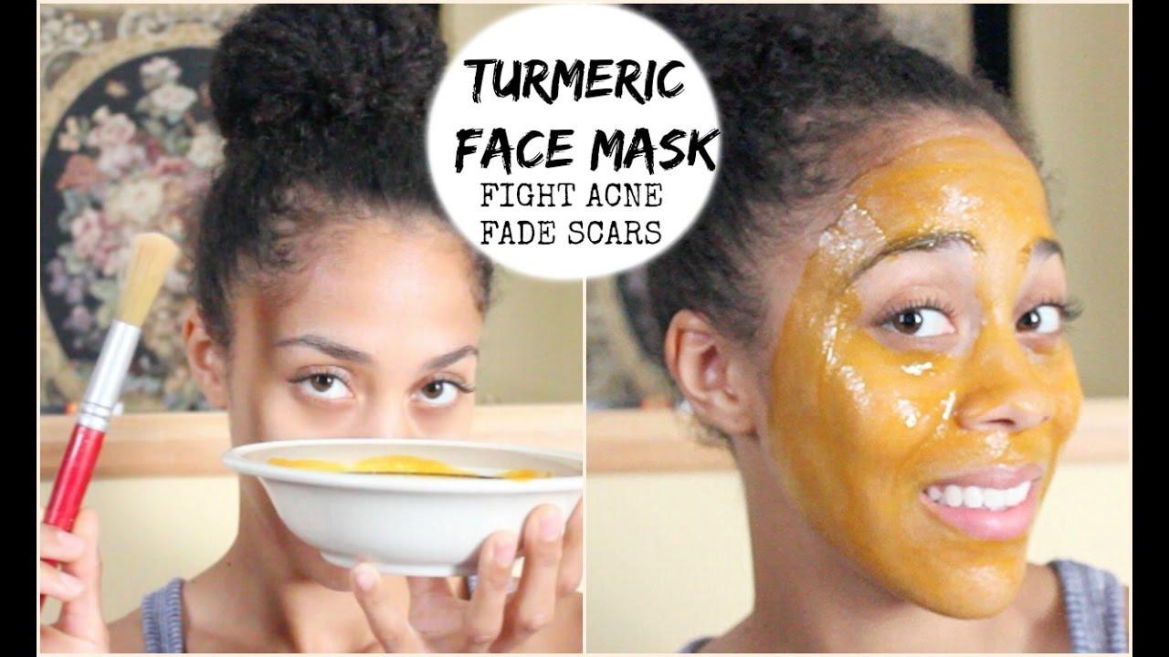 DIY Face Mask For Acne Scars  DIY Beauty Turmeric Face Mask Fight Acne & Fade Acne
