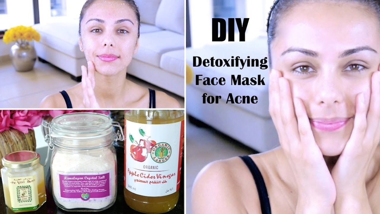 DIY Face Mask For Acne Scars  DIY Detoxifying Face Mask ♥ For Acne Skin Discoloration