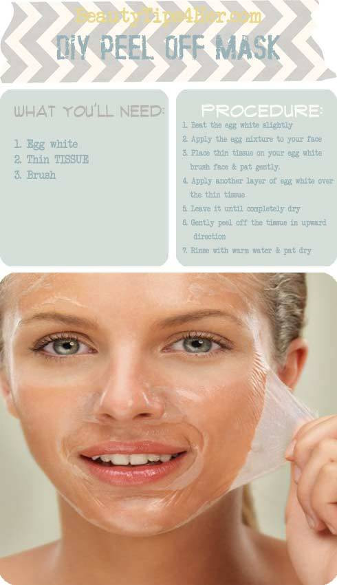 DIY Face Masks For Blackheads  DIY Peel f Mask Blackhead Removal to Deep Clean Pores