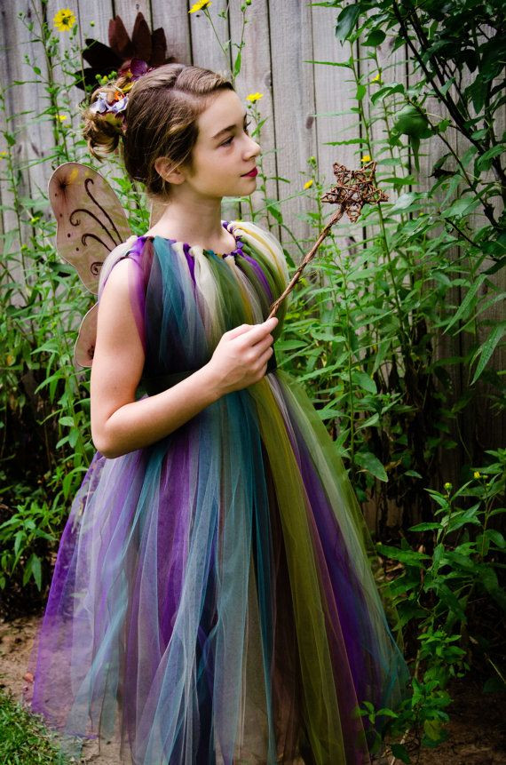 DIY Fairy Costumes For Kids  Forest Fairy TuTu Dress Flower Girl Costume by