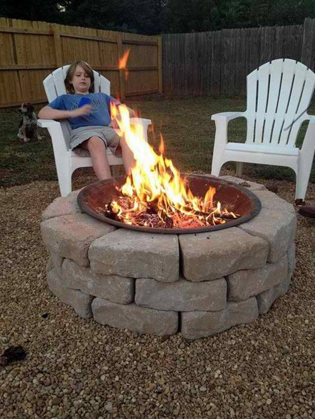 DIY Fireplace Outdoor  15 DIY Outdoor Fireplace Ideas to bat the Winter Chill