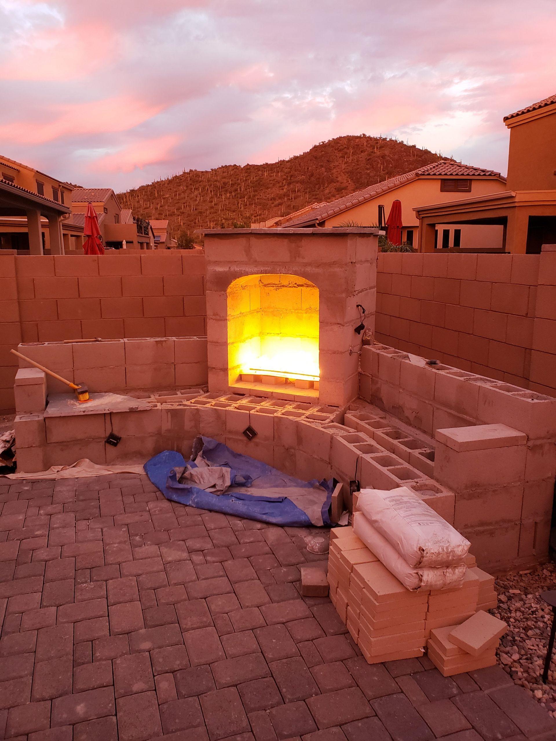 DIY Fireplace Outdoor  DIY Outdoor Fireplace Update – Tucson