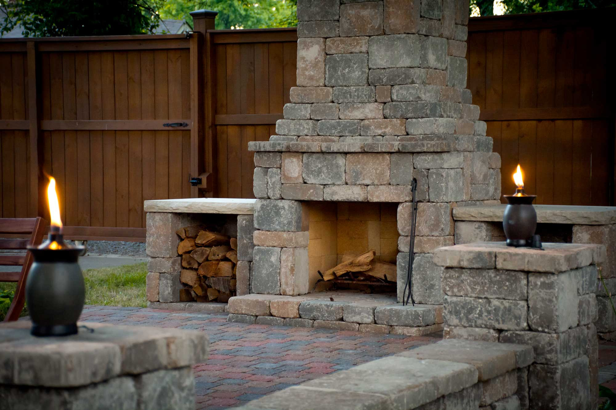 DIY Fireplace Outdoor  DIY outdoor Fremont fireplace kit makes hardscaping simple