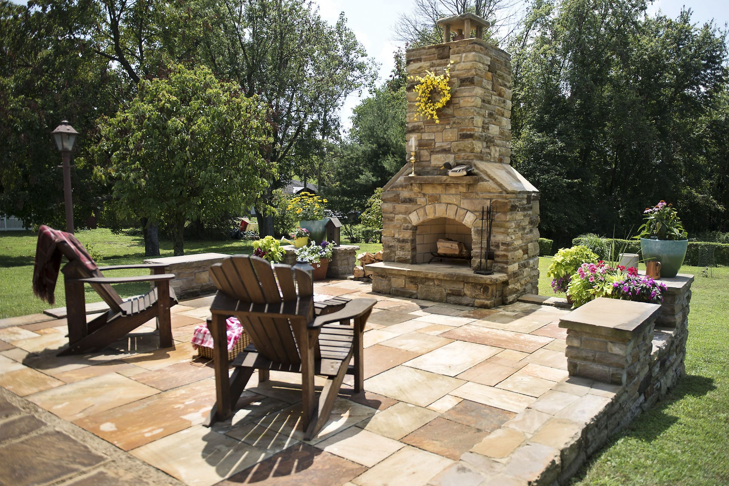 DIY Fireplace Outdoor  DIY stonecutter Donora man builds his own patio outdoor