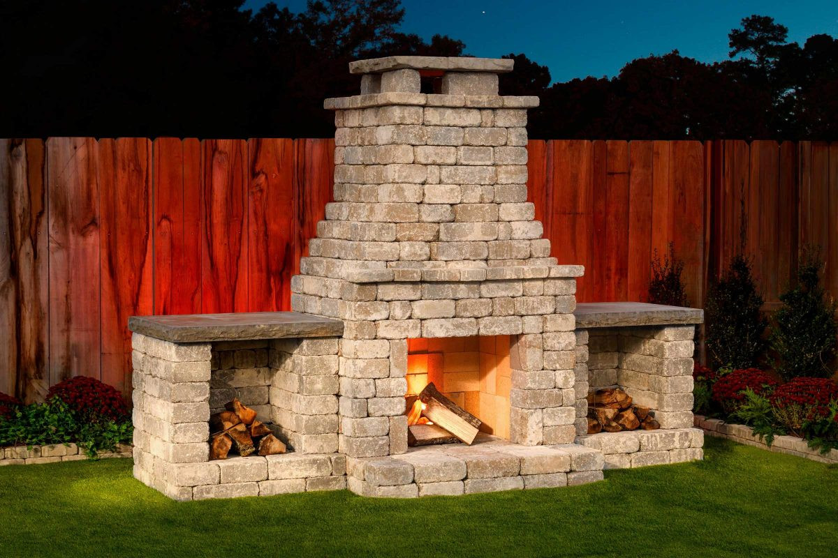 DIY Fireplace Outdoor  Fremont DIY outdoor fireplace kit makes hardscaping easy