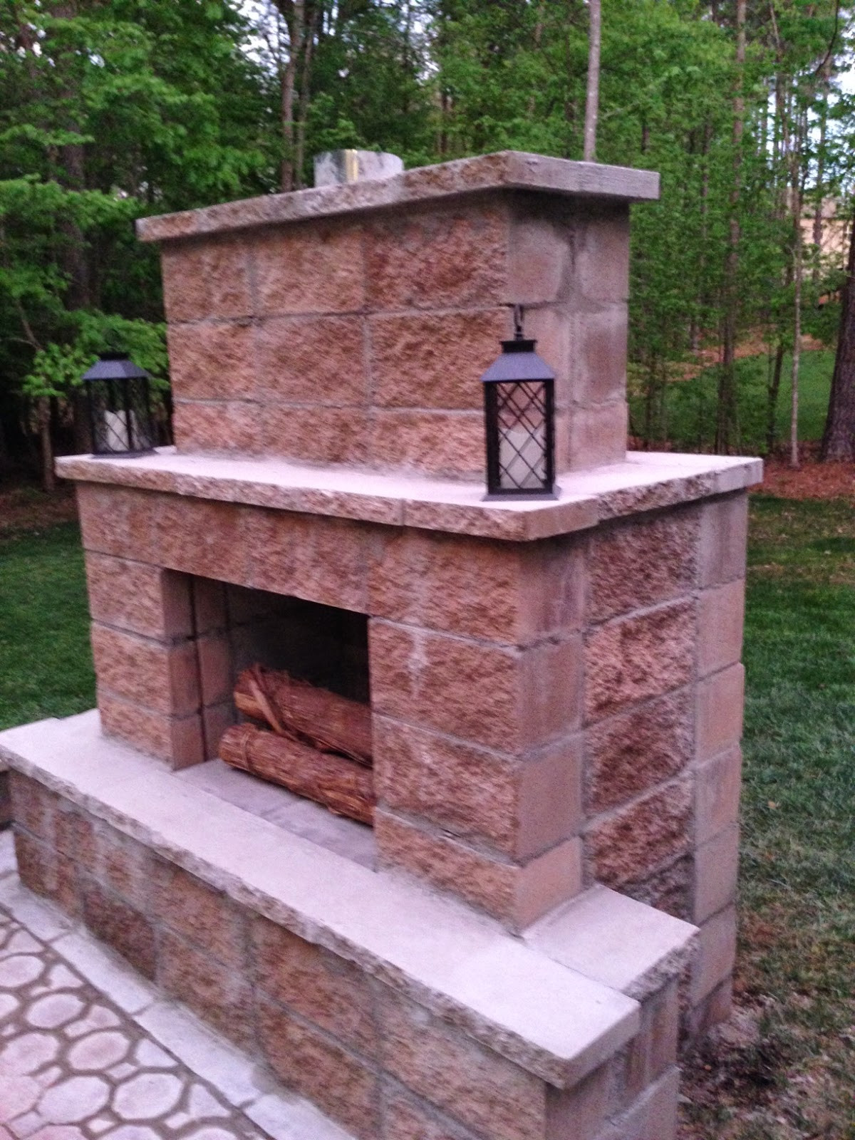 DIY Fireplace Outdoor  Life in the Barbie Dream House DIY Paver Patio and