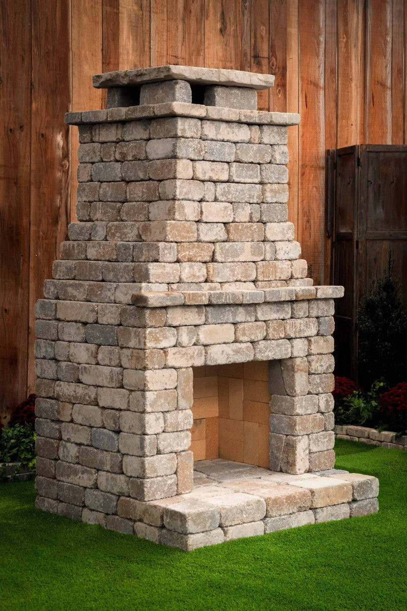 """DIY Fireplace Outdoor  DIY Outdoor Fireplace Kit """"Fremont"""" makes hardscaping"""