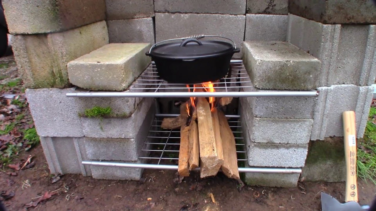 DIY Fireplace Outdoor  DIY Outdoor Fireplace Build simple easy and cheap