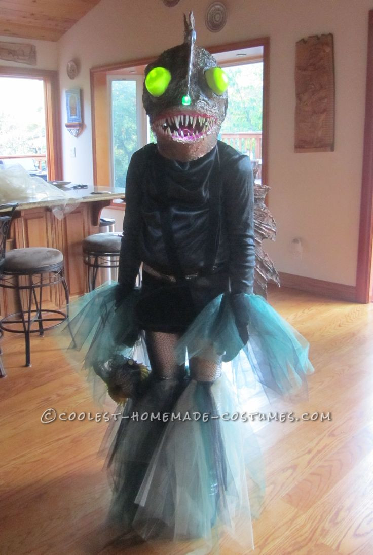 DIY Fish Costumes For Adults  Ferocious Female Angler Fish Costume DIY for an 11 Year