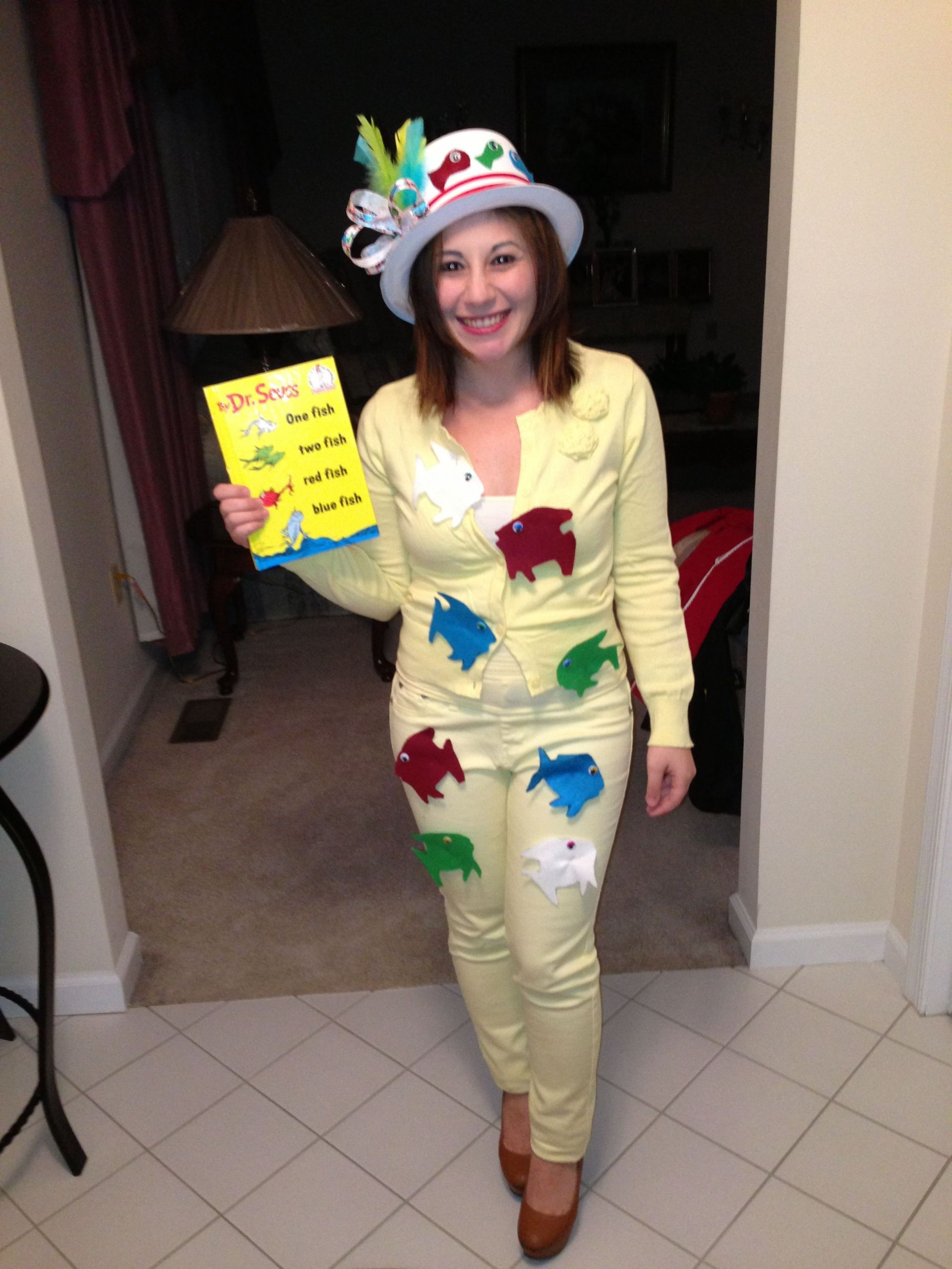 DIY Fish Costumes For Adults  Dr Seuss one fish two fish homemade costume
