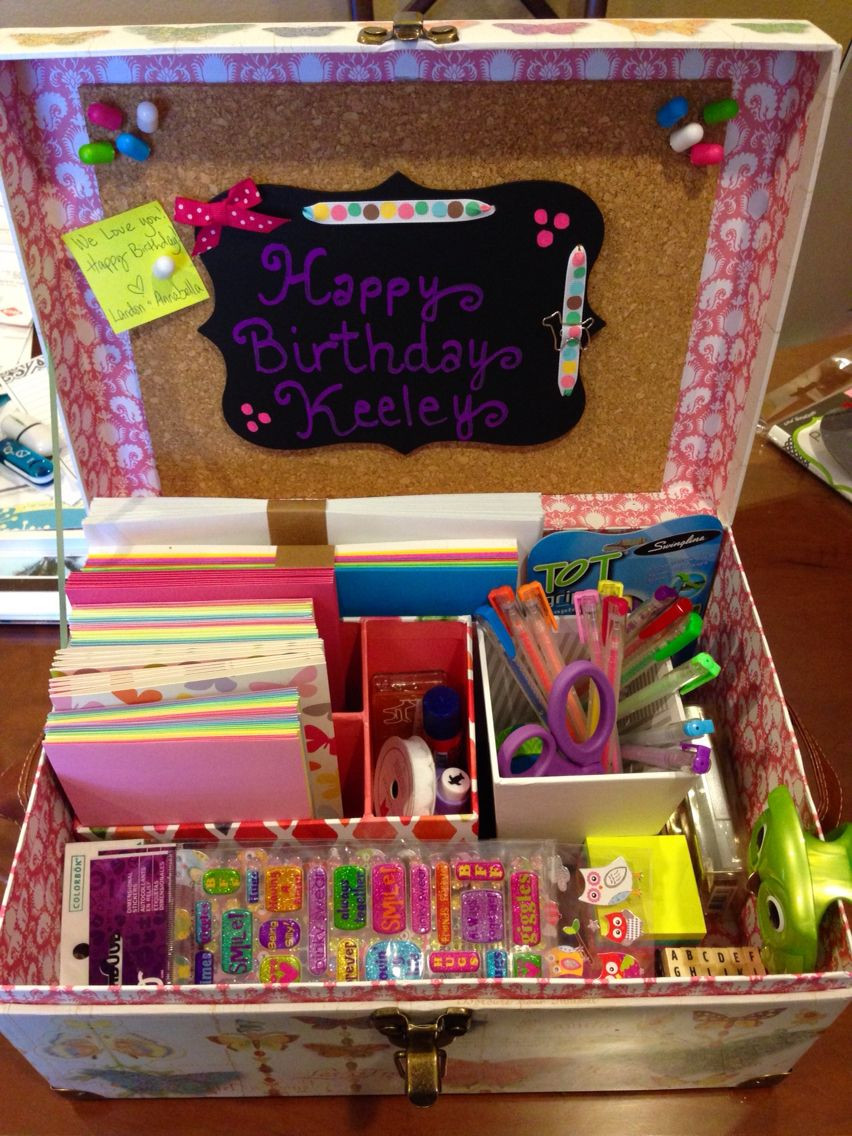 DIY Gifts For 3 Year Old  Stationary box for 7 year old girl Pens stickers cards