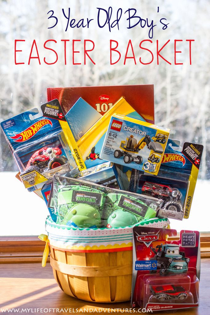 DIY Gifts For 3 Year Old  My 3 Year Old Boy s Easter Basket with no candy