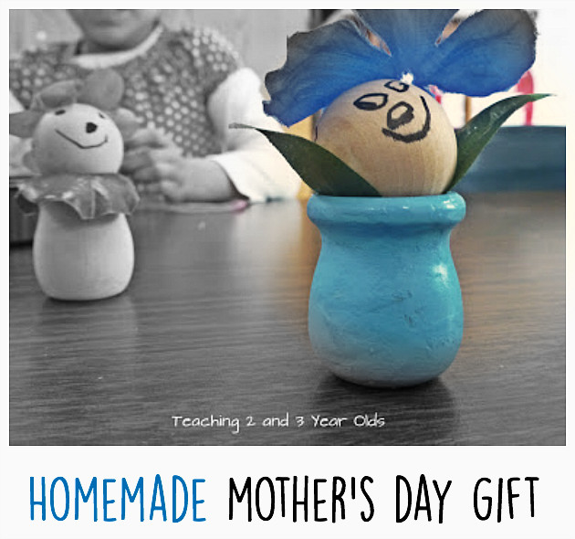 DIY Gifts For 3 Year Old  Homemade Mother s Day Gift Teaching 2 and 3 Year Olds