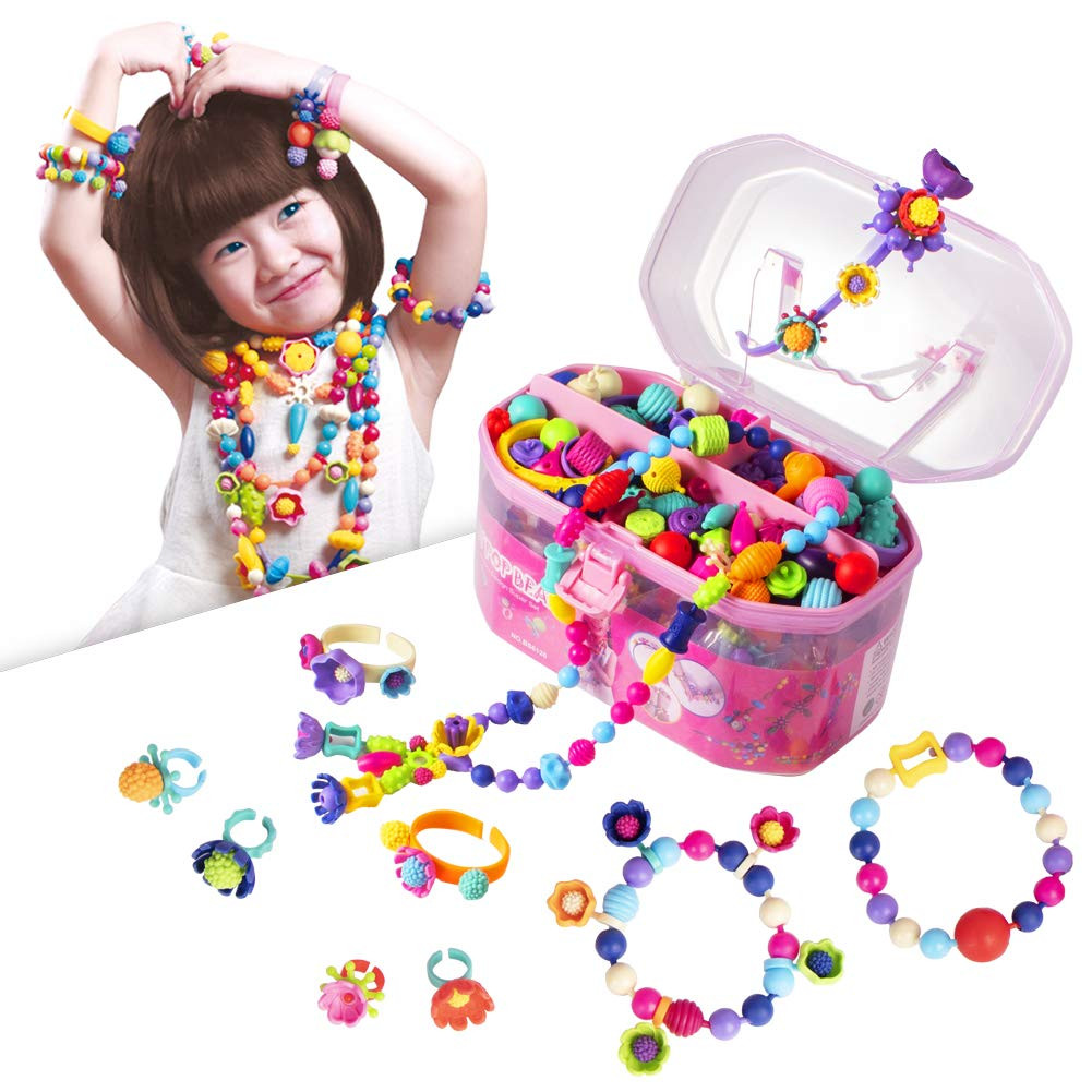 DIY Gifts For 3 Year Old  Pop Beads Jewelry Making Kit Arts and Crafts for Girls