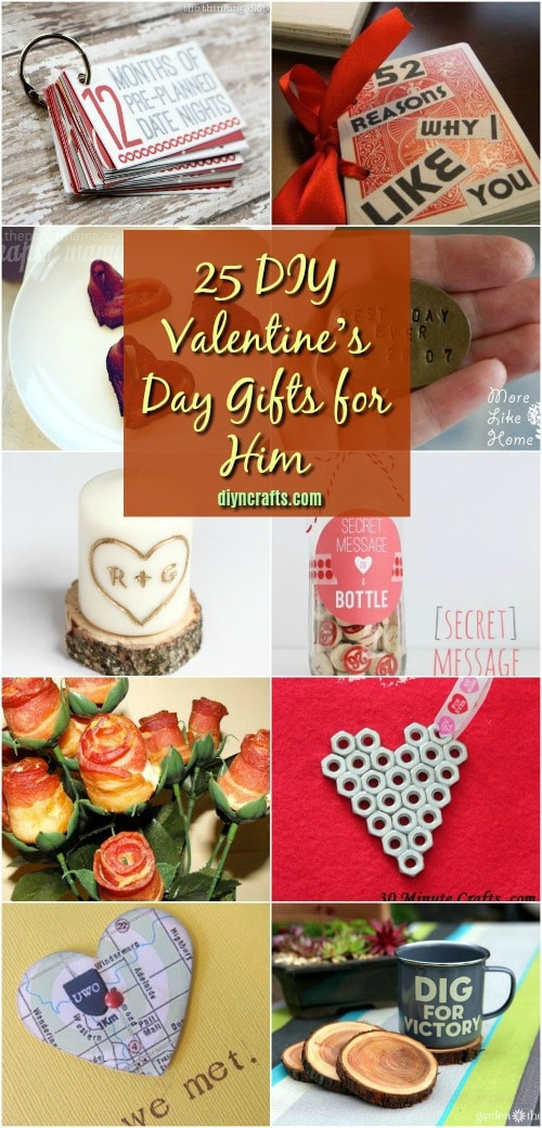 DIY Gifts For Him  25 DIY Valentine's Day Gifts That Show Him How Much You