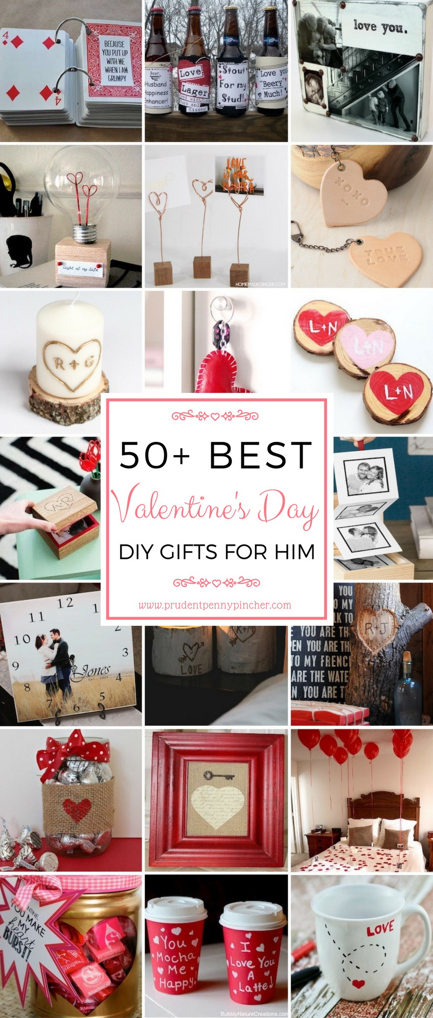 DIY Gifts For Him  50 DIY Valentines Day Gifts for Him Prudent Penny Pincher