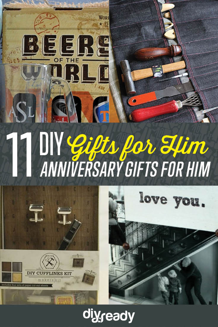 DIY Gifts For Him  Anniversary Gifts for Him DIY Projects