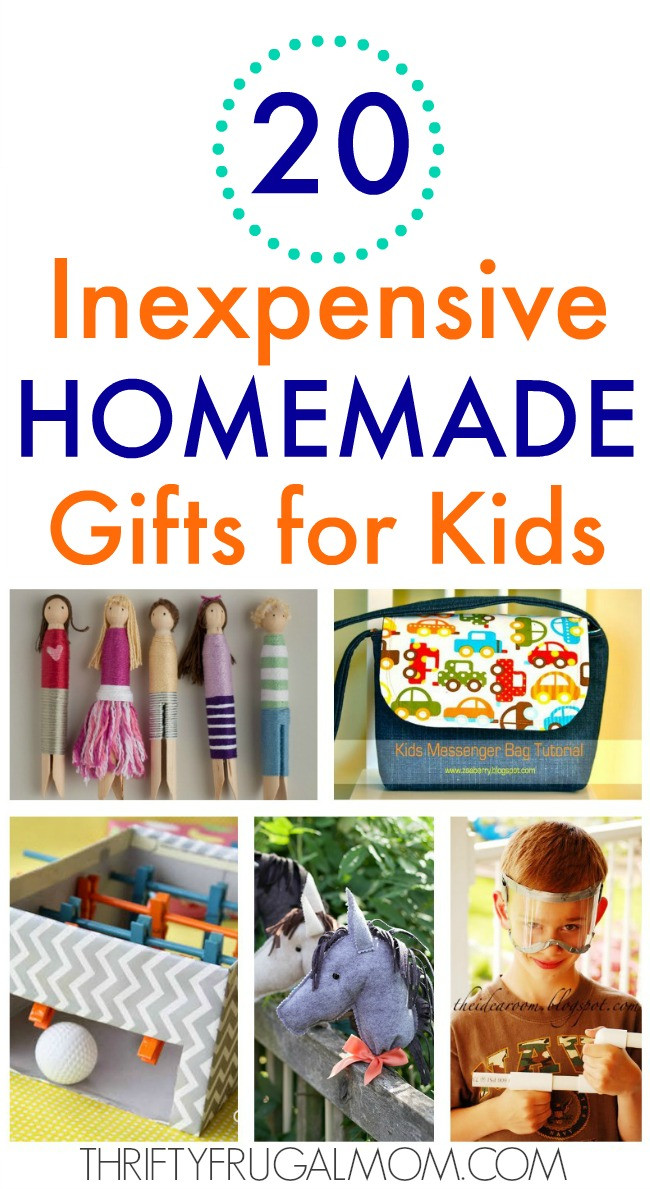 DIY Gifts For Kids  20 Inexpensive Homemade Gifts for Kids