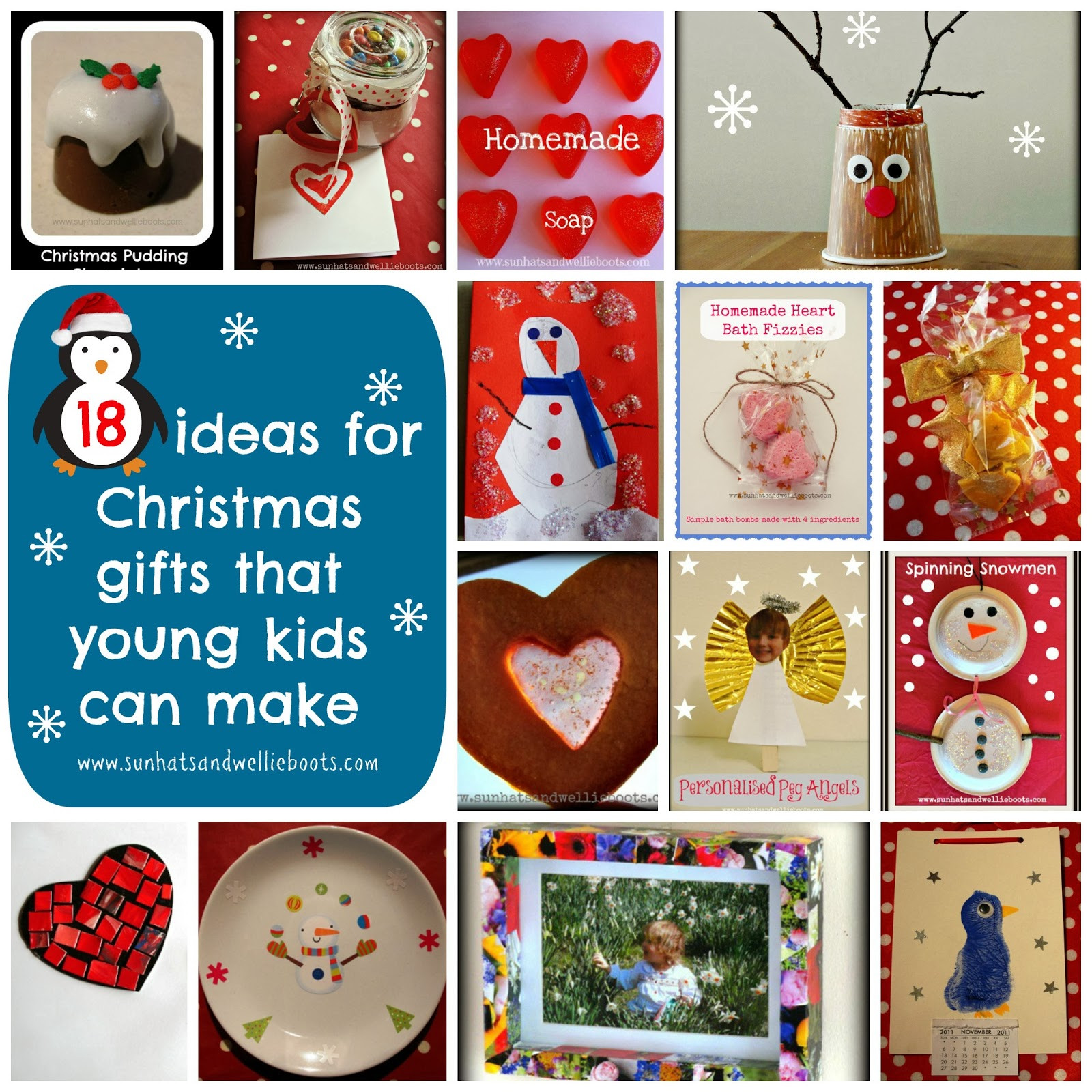 DIY Gifts For Kids To Make  Sun Hats & Wellie Boots 18 Homemade Christmas Gifts That