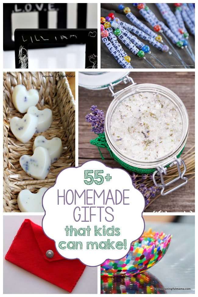 DIY Gifts For Kids To Make  55 Homemade Gifts Kids Can Make