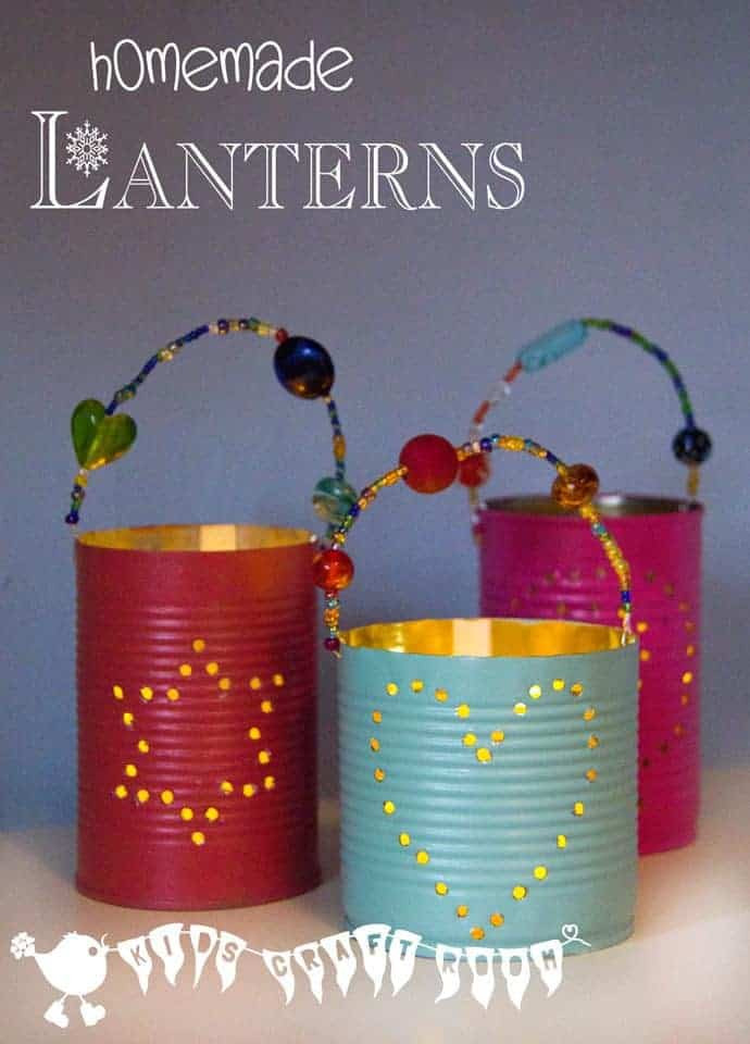 DIY Gifts For Kids To Make  Homemade Gifts Tin Can Lanterns Kids Craft Room