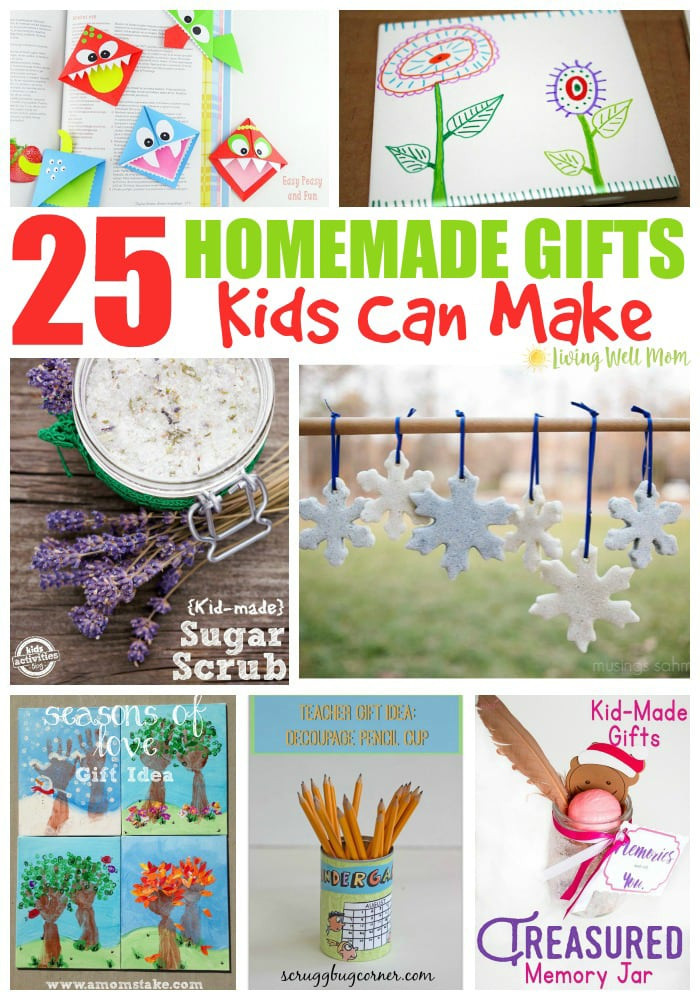 DIY Gifts For Kids To Make  25 Homemade Gifts Kids Can Make Living Well Mom