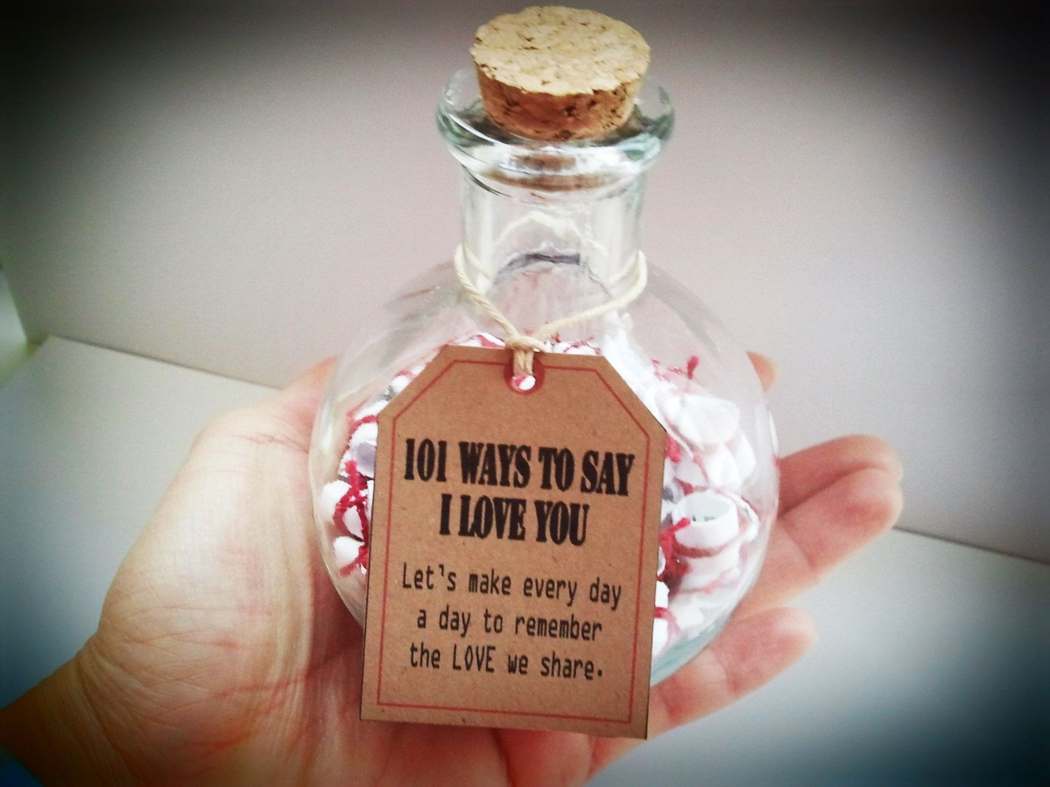 """DIY Gifts That Say I Love You  Anniversary Gifts Gift of Love """"101 Ways to say I Love"""