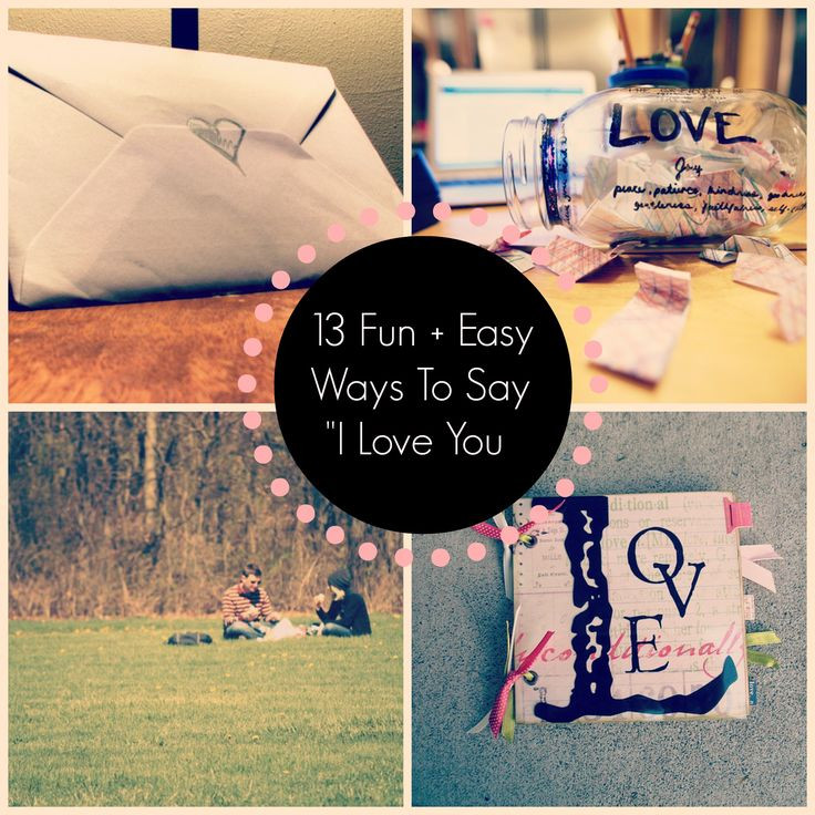 DIY Gifts That Say I Love You  60 best Unique Ways to Say I Love You images on Pinterest