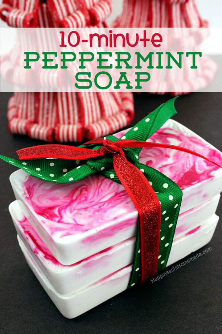 DIY Holiday Gift Ideas  10 Minute DIY Holiday Gift Idea Peppermint Soap
