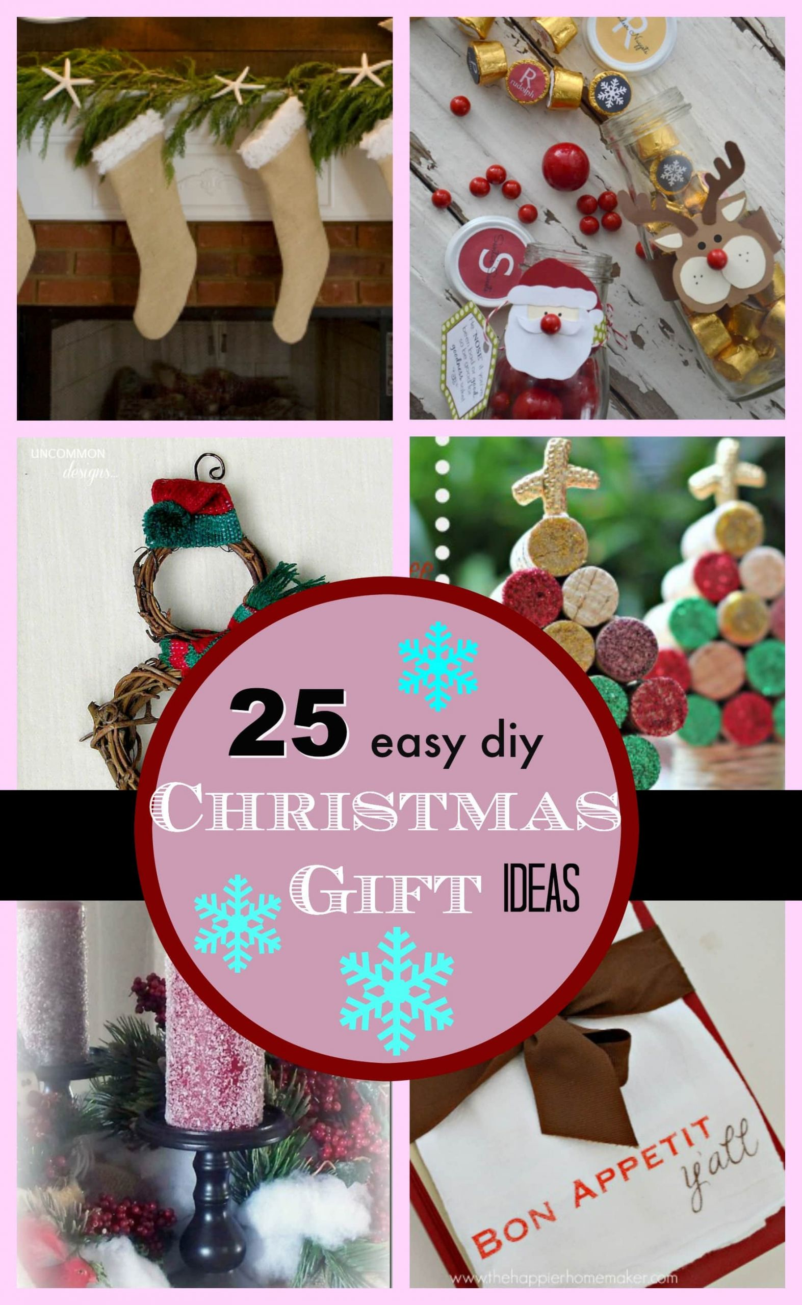 DIY Holiday Gift Ideas  25 DIY Easy Christmas Gift Ideas PinkWhen