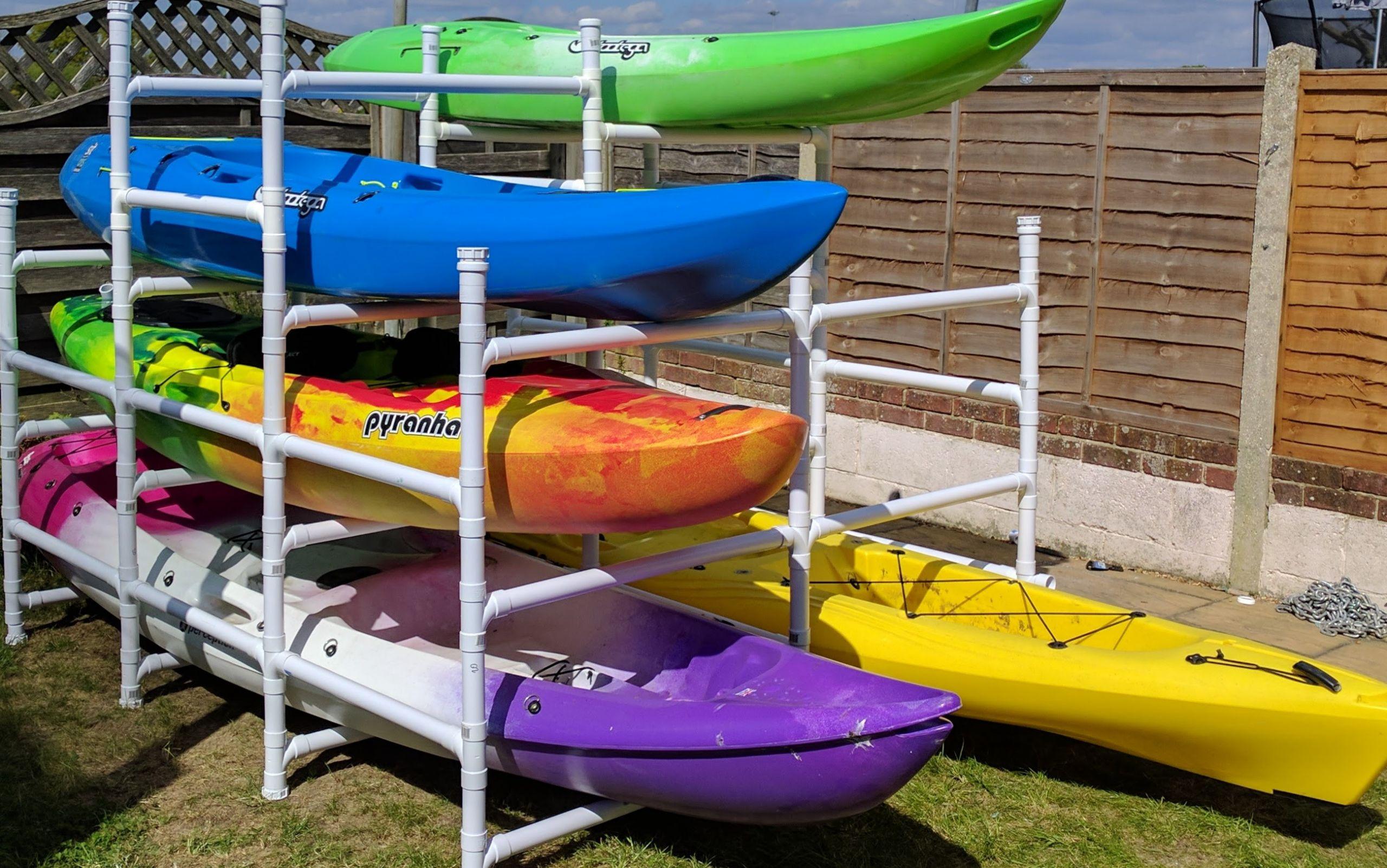 DIY Kayak Rack Pvc  Sit on top Kayak Storage