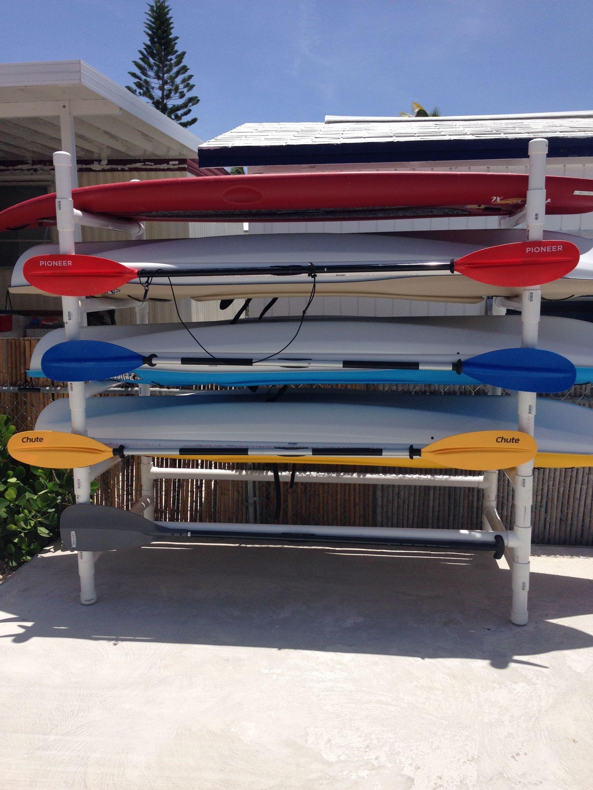 DIY Kayak Rack Pvc  PVC Kayak Stand