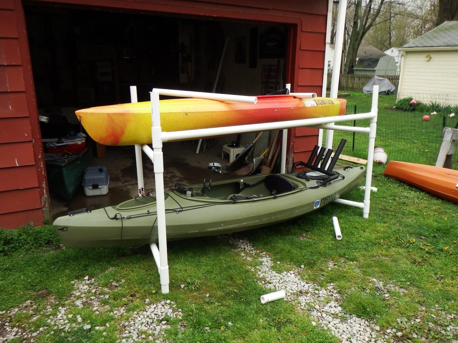 DIY Kayak Rack Pvc  The Northern Spike DIY Kayak Storage Rack
