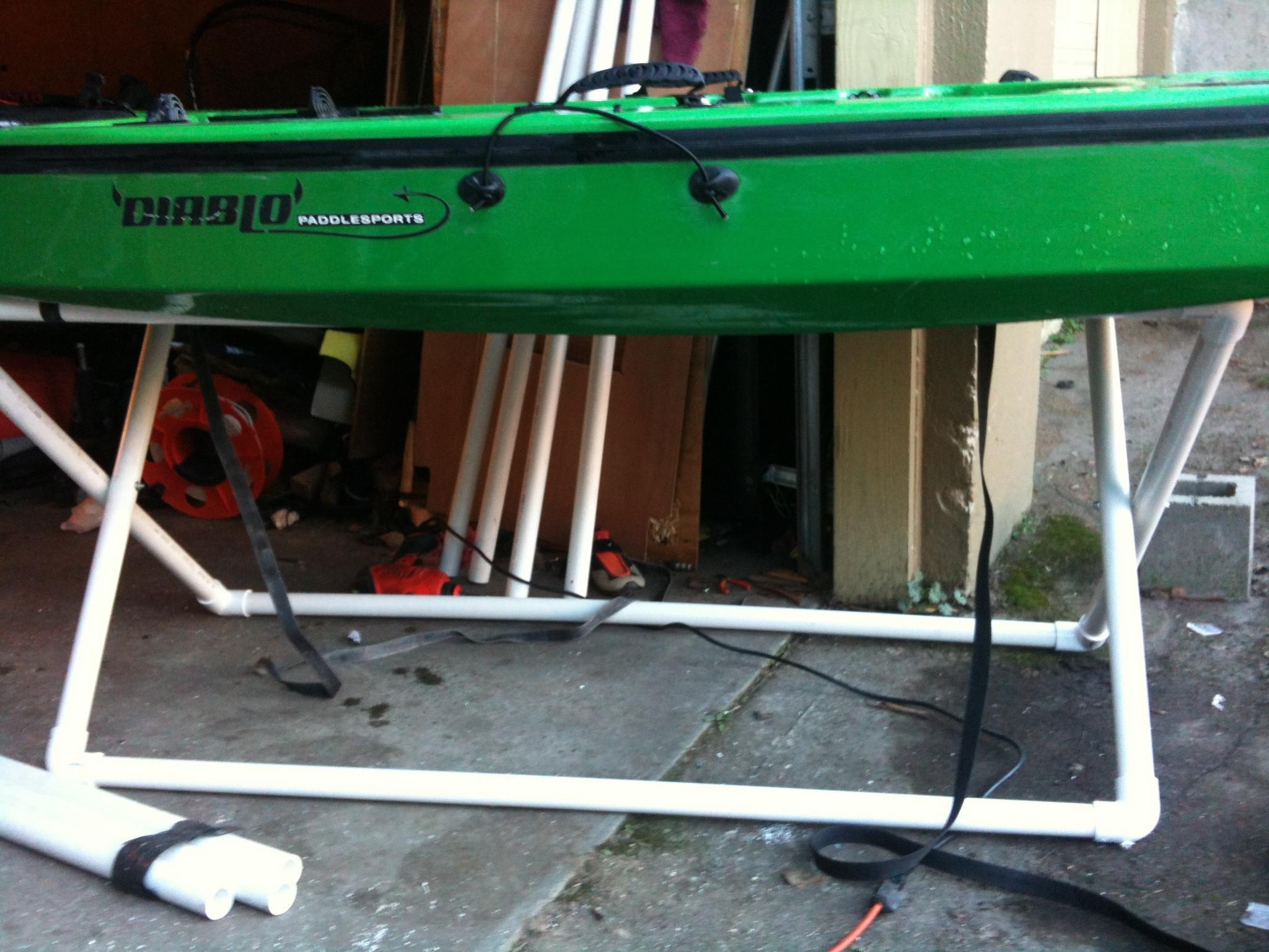 DIY Kayak Rack Pvc  DIY folding PVC kayak stand