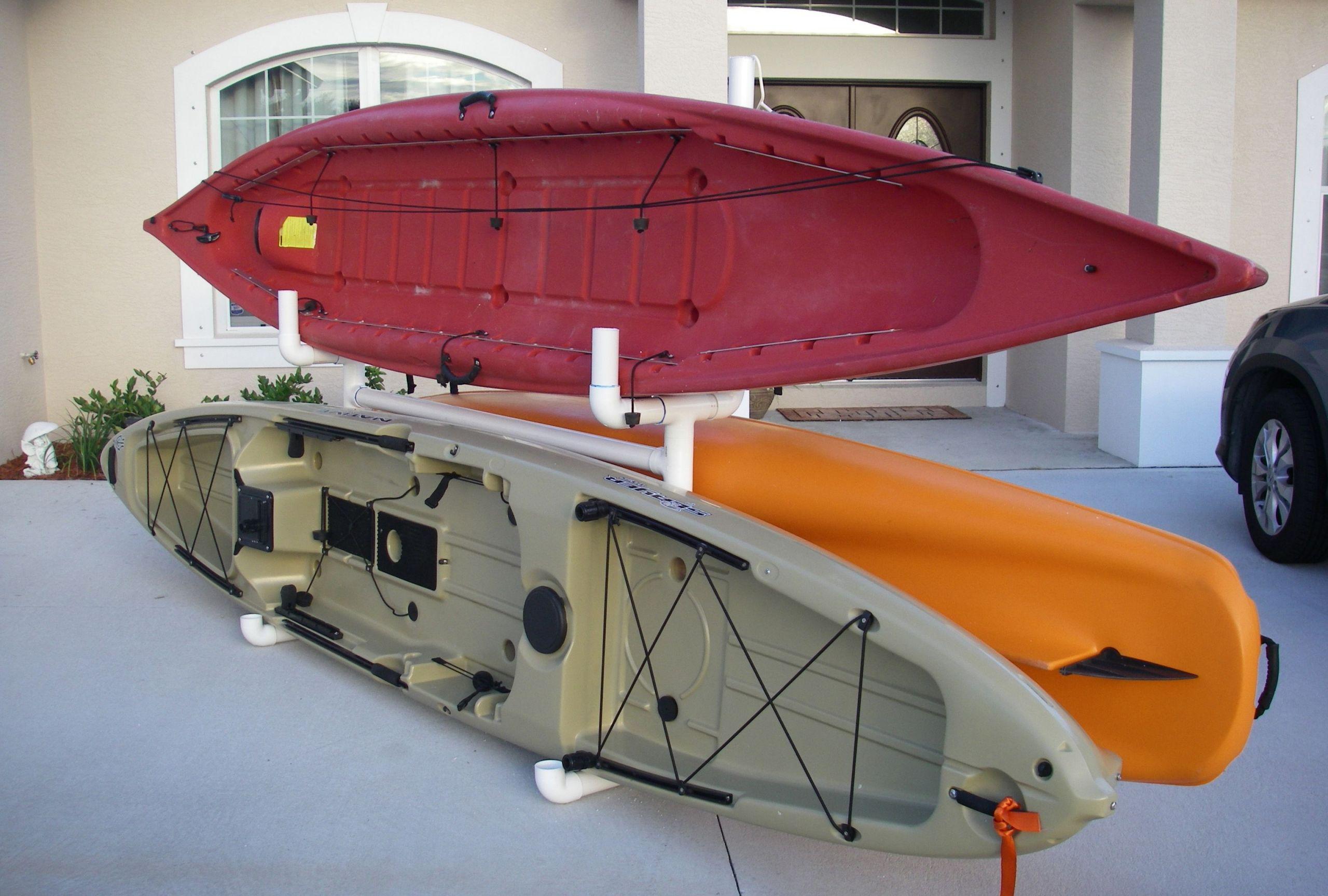 DIY Kayak Rack Pvc  Build Outdoor Kayak Rack