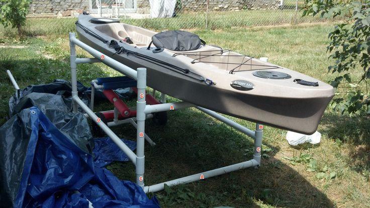 DIY Kayak Rack Pvc  Nice Homemade boat rack Jamson