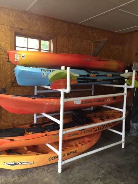 DIY Kayak Rack Pvc  DIY Kayak Rack Yak OutlawsYak Outlaws
